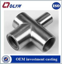 CF8 stainless steel pipe accessories with investment casting